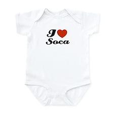 I love Soca Infant Bodysuit