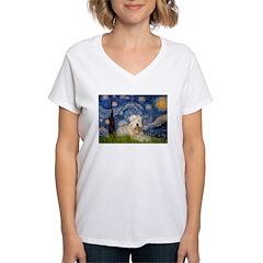 Starry / Wheaten T #1 Women's V-Neck T-Shirt