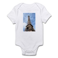 Looking up at Eiffel Tower Infant Bodysuit
