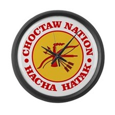 Choctaw Nation Large Wall Clock