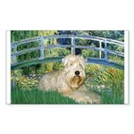 Bridge & Wheaten Sticker (Rectangle)