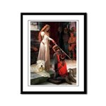 Princess & Wheaten Framed Panel Print