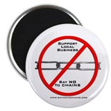 """Say NO to Chains"" Magnet"