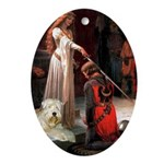 Princess & Wheaten Ornament (Oval)