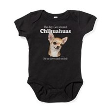 God smiled chihuahuas Baby Bodysuit