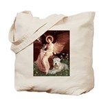 Seated Angel & Wheaten Tote Bag