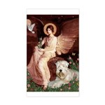 Seated Angel & Wheaten Sticker (Rectangle)