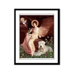 Seated Angel & Wheaten Framed Panel Print