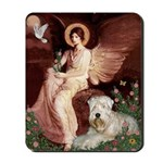 Seated Angel & Wheaten Mousepad