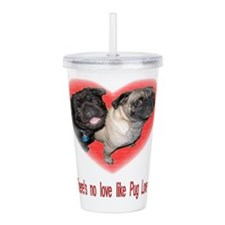 No Love.jpg Acrylic Double-wall Tumbler