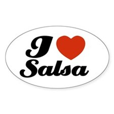 I love Salsa Oval Decal