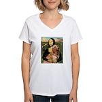 Mona's Golden Retriever Women's V-Neck T-Shirt