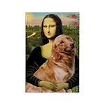 Mona's Golden Retriever Rectangle Magnet (10 pack)