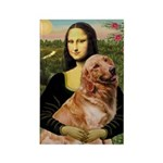 Mona's Golden Retriever Rectangle Magnet