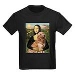 Mona's Golden Retriever Kids Dark T-Shirt