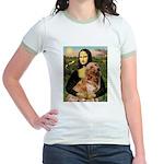 Mona's Golden Retriever Jr. Ringer T-Shirt