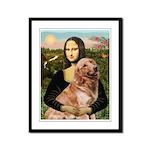 Mona's Golden Retriever Framed Panel Print