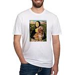 Mona's Golden Retriever Fitted T-Shirt