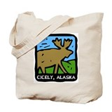 Cicely Alaska Moose Tote Bag