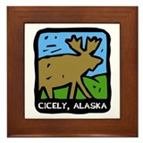 Cicely Alaska Moose Framed Tile