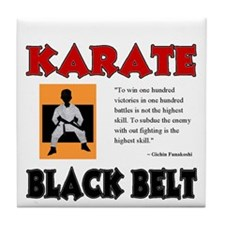 Black Belt Tile Coaster
