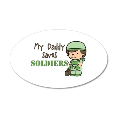 Daddy Saves Soldiers Wall Decal