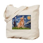 Starry Night Golden Tote Bag