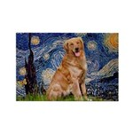 Starry Night Golden Rectangle Magnet (10 pack)
