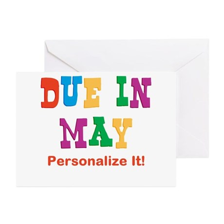 Due in May Greeting Cards (Pk of 10)