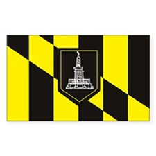 Baltimore Flag Rectangle Decal