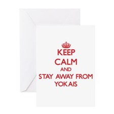 Keep calm and stay away from Yokais Greeting Cards