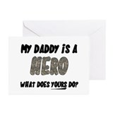 my daddy is a hero, what does Greeting Cards (Pack