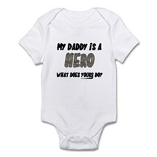my daddy is a hero, what does Infant Bodysuit