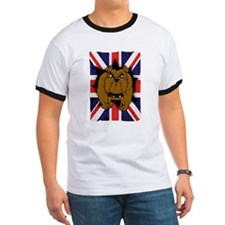 Union Jack British Bulldog T T-Shirt