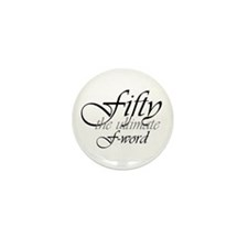50th birthday f-word Mini Button (10 pack)