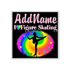 "SKATING QUEEN Square Sticker 3"" x 3"""
