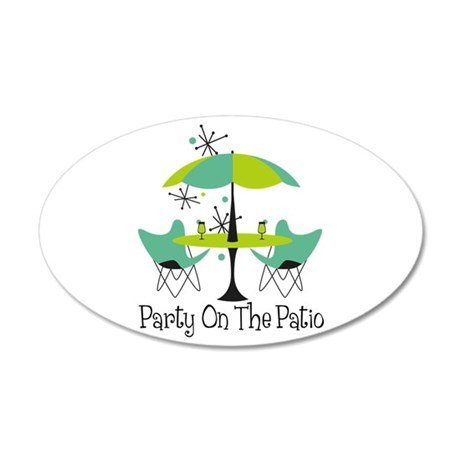 Party On The Patio Wall Decal