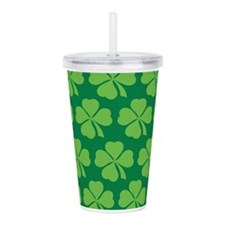 Lucky Irish Clover Acrylic Double-wall Tumbler