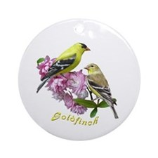 Goldfinch Ornament (Round)