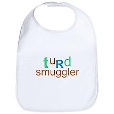 """turd smuggler"" baby bib"