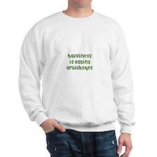 happiness is eating artichoke Sweatshirt