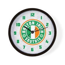 Boston Irish Southie Wall Clock