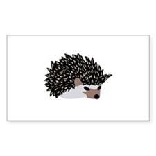 tea time hedgehog Rectangle Decal