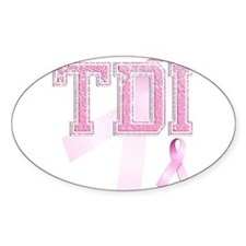 TDI initials, Pink Ribbon, Decal
