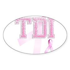 TDI initials, Pink Ribbon, Stickers