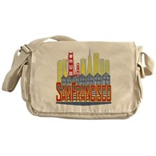 SF Golden Skyline Messenger Bag