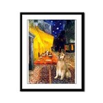 Cafe & Golden Framed Panel Print