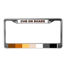 Cute Bear shop License Plate Frame