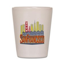 SF Golden Skyline Shot Glass