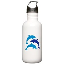Blue Dolphins Water Bottle